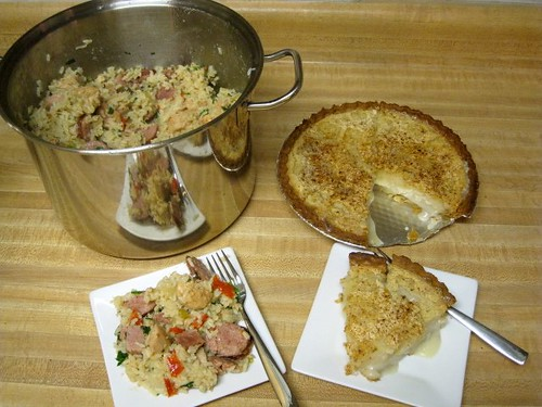 New Orleans Sausage and Chicken Jambalaya vs Indianapolis Sugar Cream Pie