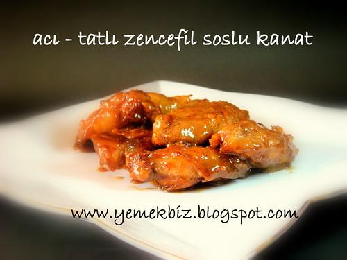 ACI TATLI zencefil soslu kanat