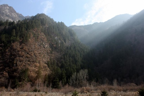 Sunbeams at Jiuzhaigou National Park