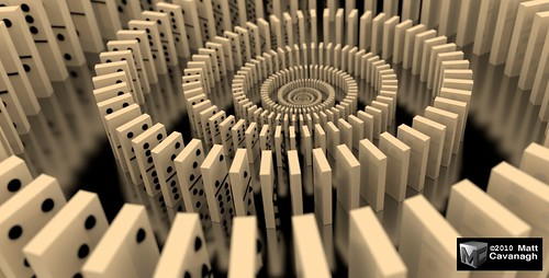 Domino Spiral by FracturedPixel.