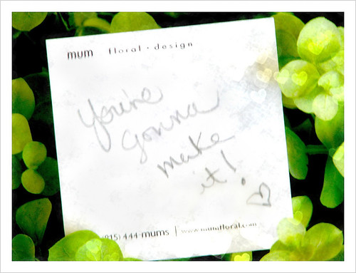 post-it to myself {with texture}