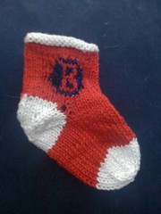 Red Sox Baby Sock