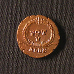 "<b>378 Reverse</b><br/> During the 3rd and 4th century, a popular aspect of coin reverses is the writing VOT followed by a Roman numeral, often encircled by a wreath, as is seen on this coin. These ""votive"" reverses were used by the emperor to vow a certain number of years of service, often years already served by the emperor. In this case, the emperor vowed 5 years, indicated by the Roman numeral ""V"".  Donated by Dr. Orlando ""Pip"" Qualley<a href=""http://farm3.static.flickr.com/2792/4351359435_aaab89758a_o.jpg"" title=""High res"">∝</a>"