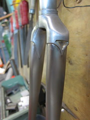 track fork for sale (Hufnagel Cycles) Tags: light handmade steel fork fixed cycles lugged brazed hufnagel