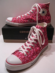 Pink Hearts Pink & Red Hi (hadley78) Tags: hearts shoe shoes ripleys ct ox guinness collection converse cons allstar chucks chucktaylors allstars worldrecord hitops lowtops lowtop hitop joshuamueller hadley78 thatconverseguy