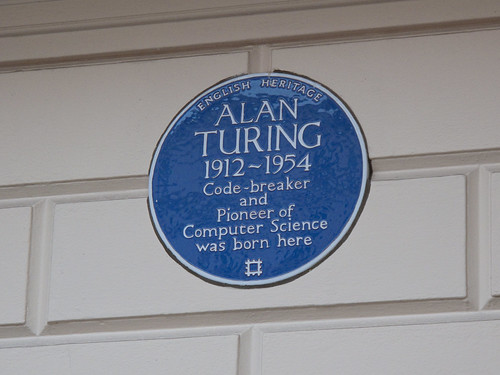 Alan Turing - Blue Plaque
