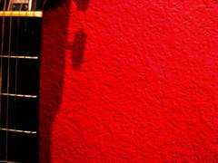 Minimalism (Caylahanni) Tags: shadow red neck guitar strings minimalsim