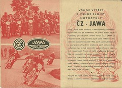 CZ and Jawa brochure 1953