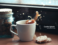 Cookie Splash! (jochenvde) Tags: coffee cookie mug splash ef50mmf18ii 2010 canoneos400d jochenvandereecken