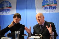 Anna Maria Bernini in conferenza stampa con il ministro Bondi