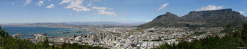 View over Capetown from Signal Hill Road