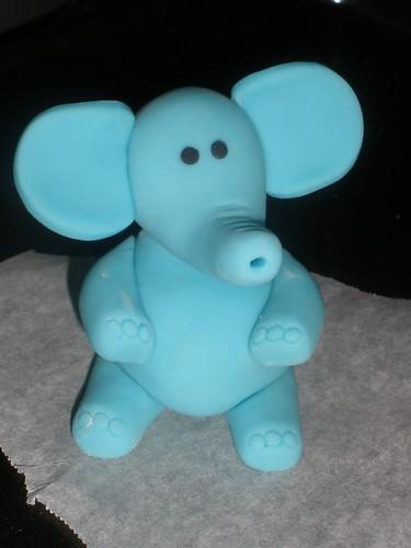 Handmade fondant elephant