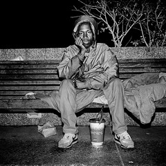 """Ice"" Getting Ready For Bed, Washington, DC (Gerald L. Campbell) Tags: street blackandwhite bw mediumformat washingtondc blackwhite trix homeless streetphotography dcist mamiya6 blackmale urbanphotography homelessness minoltamultiproscanner mamiya75mmlens"