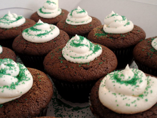 st. paddy's day cupcakes