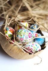 eggs and chicks (drawnbyrebeccajones) Tags: easter craft paintedeggs