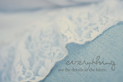 details in the fabric. (dimplyemily) Tags: blue white soft lace faded denim detailsinthefabric