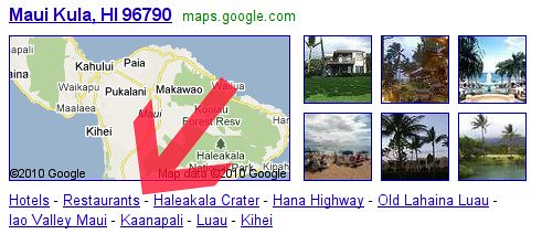 Google Local Search Refinements