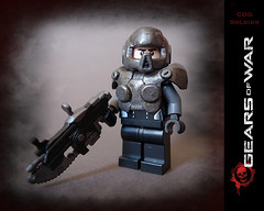 COG Soldier (Geoshift) Tags: lego gear cog lancer gearsofwar customlego gearsofwar2 legocustoms gearsofwar3 legocustomminifig amazingarmory