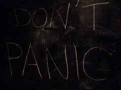 don't panic. (rachel lee-ann) Tags: writing chalk