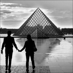 Hand-for-hand ~ Urban legend  ~ Pyramide du Louvre ~ Paris ~ MjYj (MjYj) Tags: fiction paris church glass blood catholic order married roman drawing victim wing panes battle player holy poker da satan murder multiple historical novel prize leonardo christianity rank popular grail legend pei interest investigate ranking cardgame marymagdalene dealer danbrown jesuschrist thedavincicode nazareth scientific opusdei factoid vitruvian associated speculation enthusiasts louvremuseum thenumberofthebeast tournaments img5237 urbanblackandwhite elimination denominations payouts vincis prioryofsion inaccuracy robertlangdon extensively sophieneveu denounced speculated 100commentgroup mjyj symbologist mysterydetective mjyj handforhand crypticpentacle exactly666