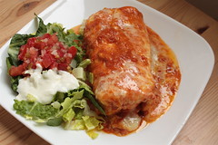 vegetarain enchilada