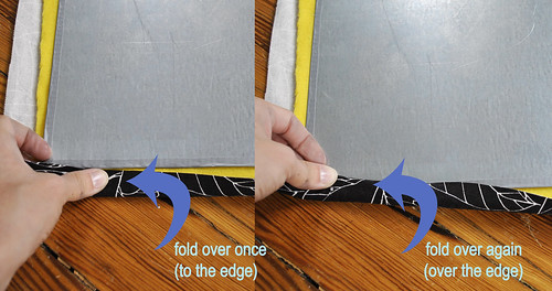Step 6 - Line up and Fold Fabric