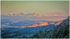 german mountains (aminekaytoni) Tags: germain mountains montagne allemagne nature sunset sunrise lever du soleil coucher neige snow sneew bergen duitsland nikon d7100 blue white golden water sky foret