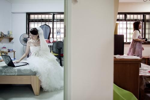 Jann working hard on her actual day wedding