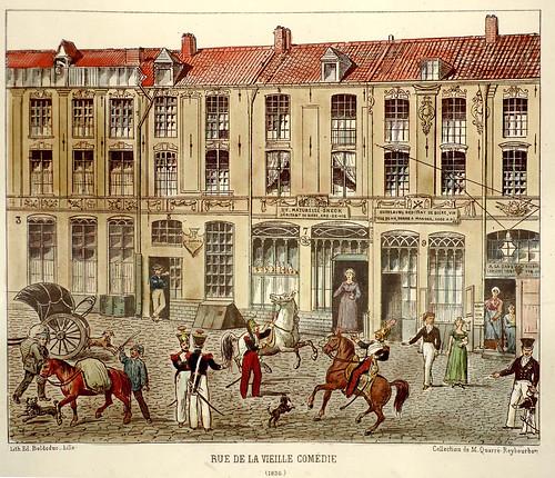 004- Calle de la Comedia Antigua-Lille ancien monumental Edouard Boldoduc  1893
