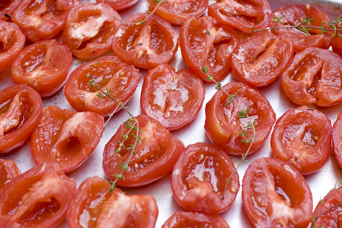 before roasting tomatoes