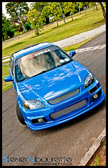 HondaCivic_0171 (Steve Nibourette) Tags: blue cars honda rally subaru modified civic seychelles impreza b18c