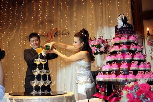 minghan and celeste champange