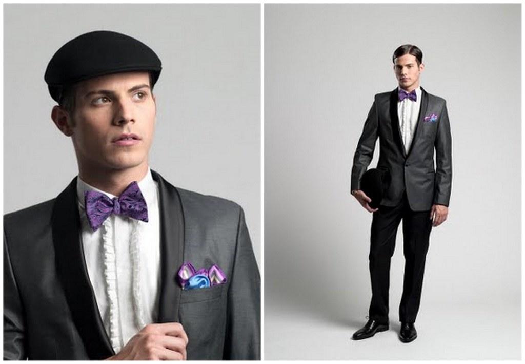 Purple Paisley Suit Purple Paisley Bow Tie
