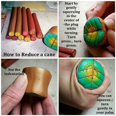 How to reduce a polymer clay cane. 1 of 6 (clayangel_sc) Tags: art beauty fashion necklace beads artist handmade originalart ooak polymerclay fimo clay gift canes sculpey handcrafted wearableart accessories bracelets earrings etsy acessories brooches necklaces polymer artjewelry hypoallergenic adornments artisanjewelry canework handmadebeads artbeads handcraftedbeads pcagoe notpainted polymerclayjewelry polymerclaycanes oneofakindjewelry fauxjewelry southcarolinaartist jewelryartisan boldjewelry clayangel oneofakindpiece clayangelsc nopaintisinvolved athousandflowers
