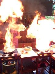 Flaming stir fry!