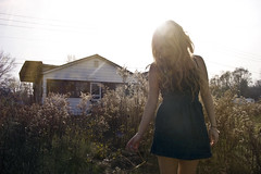 (yyellowbird) Tags: ohio sun house abandoned girl glare cari