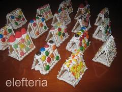 χριστουγεννιατικα σπιτακια (Elefteriaki) Tags: γλυκα γλυκά