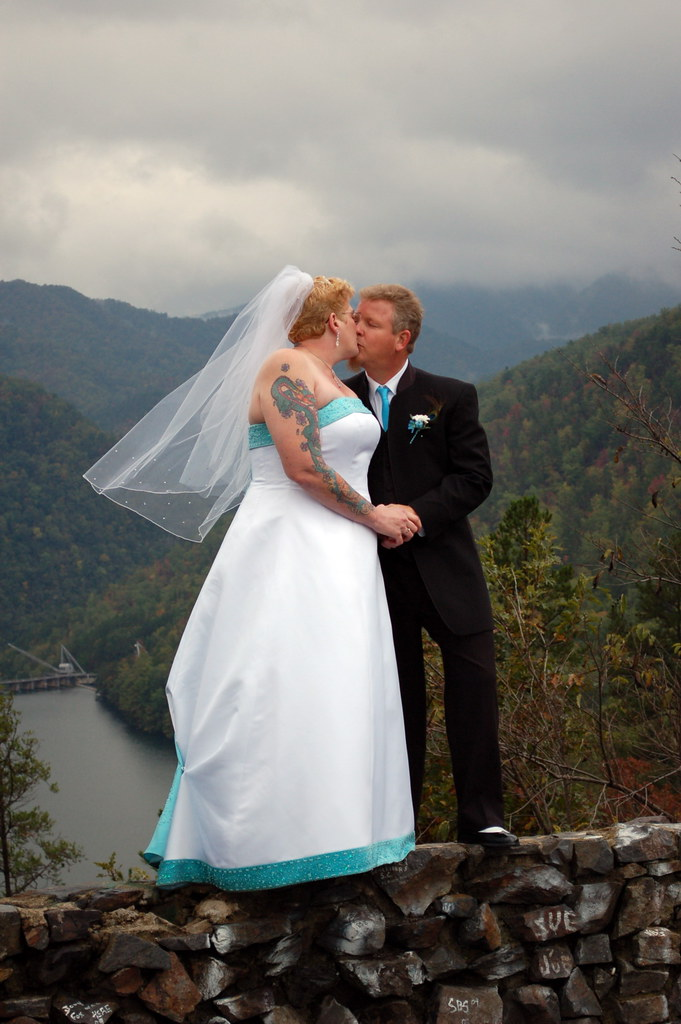 Paul and I on our wedding day at the Overlook