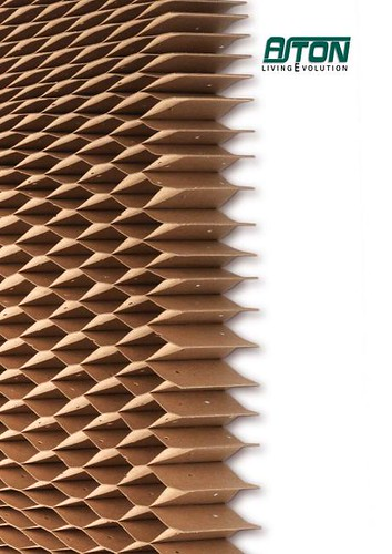 Paper honeycomb core for doors, furniture and walls