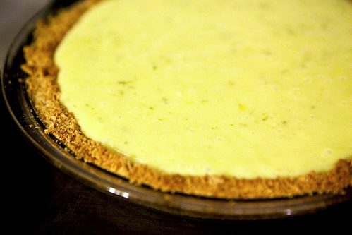 Cooling: coconut Key Lime Pie