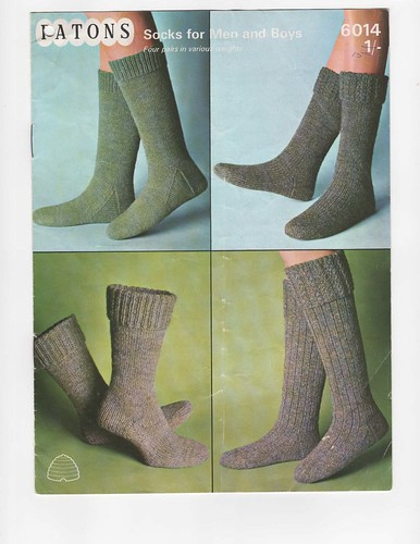 Vintage sock pattern