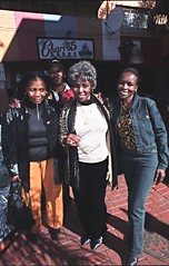 Dorothy Masuka Lilly Sylvester and Pauline Time Square Yeoville Johannesburg South Africa June 2002 0006 (photographer695) Tags: south african friends girls beautiful fun dorothy masuka singer songwriter lilly sylvester pauline time square yeoville johannesburg africa june 2002