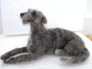Needle Felted Scottish Deerhound