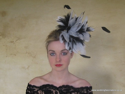 black-and-white-chelsea-wedding-fascinator-or-hat-206-1600wL-4 by WeddingFascinators