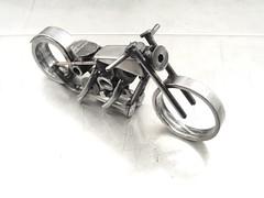 Metal Motorcycle sculpture number 108