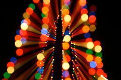 Crazy Christmas Tree Bokeh (caruba) Tags: christmas winter usa tree lights colorful zoom bokeh outoffocus 2009 underexposure caruba
