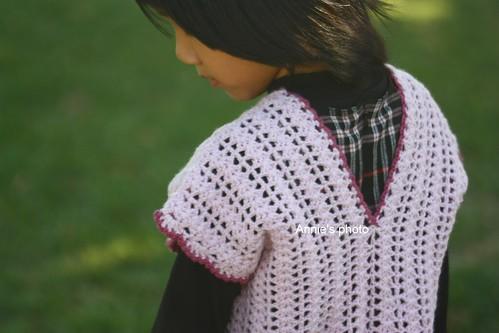 Girl's Crochet Vest