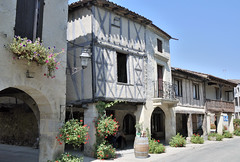 Fources  A Gasgony Village (keithhull (offline this weekend)) Tags: houses france village historic explore arcades gers bastide timberframed fources fourteenthcentury explorewinnersoftheworld gasgony seeninexplore181209402