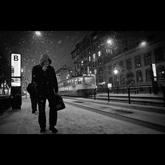 (u n c o m m o n) Tags: street city winter urban snow night canon gteborg nocturnal sweden gothenburg cityscapes sverige goteborg lightroom uncommon marcusclaesson