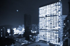 - Dotted building (jdleung) Tags: guangzhou city light building night bokeh